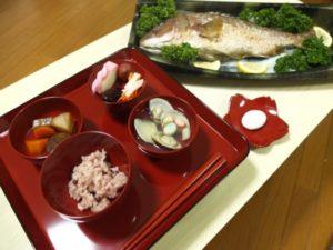 お食い初めセット、鯛